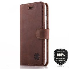 PREMIUM GENUINE LEATHER CLASSIC WALLET COVER CASE - Clover Nubuck Nutty | Mobile Phones & Communication, Mobile Phone & PDA Accessories, Cases & Covers | eBay!