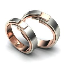 Go eccentric!. Choose a white gold and rose gold wedding rings instead of the usual silver and gold.