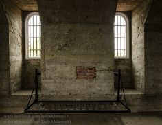 Old Beauregard Jail Cell Prison Louisiana Hanging Arched Windows Cot Gothic Historic Photo Surreal Dark Jewel Tones Art by LadyAlchemy13