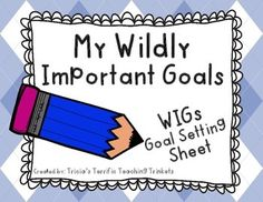 "*A GREAT resource for schools following the ""Leader in Me"" model* If you are looking for an adorable addition to Data Notebooks...here it is!Students can set personal or academic goals, write action steps and list resources needed to achieve their goals."