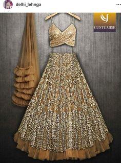 Gorgeous Indian dresses Indian Lehenga, Lehenga Designs, Indian Attire, Indian Ethnic Wear, Indian Wedding Outfits, Indian Outfits, Moda Indiana, Indie Mode, Simple Lehenga