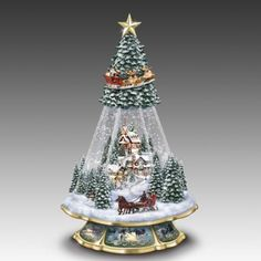 Victorian Memories Snow Globe Tree by Thomas Kinkade