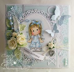 A Sprinkling of Glitter: Tilda In Lace Pants - Simon Says Stamp DT Card