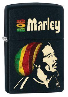 ZIPPO BOB MARLEY - BLACK MATTE