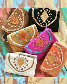 SHOP Beautiful Bohemian Leather Wallets & Boho Clutches at << M A H I Y A >> https://www.mahiya.com.au/collections/wallets-clutches