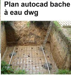 Plan d'exécution d'une bâche à eau - coffrage et ferraillage | cours génie civil…