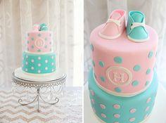 Gender Reveal Cake Ideas   ... : http://www.ontobaby.com/2012/12/coed-gender-reveal-baby-shower