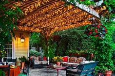 Highlight a Pergola With String Lights