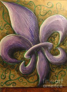 Fleur de lis by artist Billy Cousins