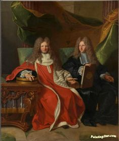 Monsieur Le Bret and his son, Cardin Le Bret Artwork by Hyacinthe Rigaud