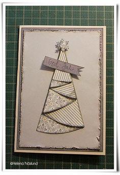 Scraphusets kreativa hörna: Att vika en julgran till dekoration av julkort