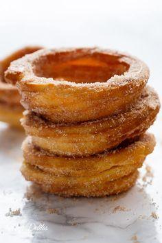 Churro Ice Cream Bowls (Cups)   cafedelites.com