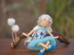 Waldorf inspired Needle felted doll ready to ship