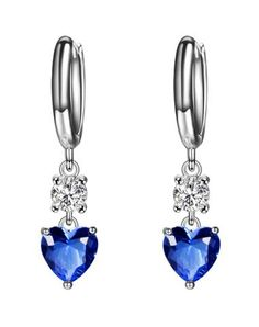 Fall in love with this bule romantic heart shaped gemstone earrings. Vipme.com offers high-quality Earrings at affordable price.