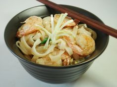 Garlic Shrimp Rice Noodles
