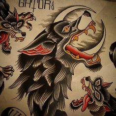 Only we can tame it tattoos animal tattoos, hand tattoos, old tattoos. Wolf Tattoo Traditional, Traditional Ink, Old Tattoos, Body Art Tattoos, Tattoo Sketches, Tattoo Drawings, Desenhos Old School, Dessin Old School, Old School Tattoo Designs
