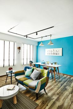 dining space, dining room, living room, living space, home and decor, singapore, hdb flat, renovation