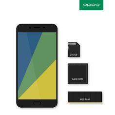 #OPPO #mobile #memory #ram #rom #sdcard #phone #design #layout #clean #r9s #product #australia #emchengillustration