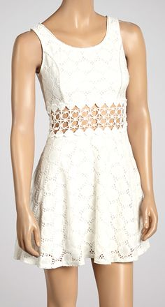 Cut out lace dress