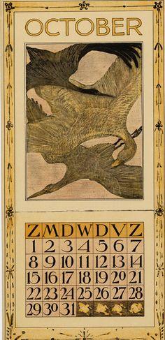 Theodoor van Hoytema, calendar 1905 October