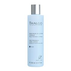 Thalgo Pure Freshness Tonic Lotion eliminates all impurities and makeup, restores balance to the skin surface, while promoting vitality, radiance and maintaining moisture. Thalgo Pure Freshness Tonic Lotion provides skin with essential micro-nutrients and leaves skin perfectly clear, fresh and toned. It also restores balance for skin types from Normal to Dry skin.
