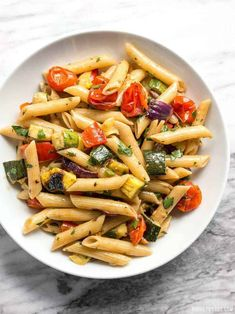 This classic summer Grilled Vegetable Pasta Salad features smoky fire licked vegetables and a homemade creamy balsamic vinaigrette. Vegetarian Recipes, Cooking Recipes, Healthy Recipes, Creamy Balsamic Vinaigrette, Balsamic Dressing, Vegetable Pasta Salads, Grilled Vegetables, Tasty Dishes, Salad Recipes