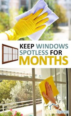 Clean grimy windows for a gorgeous streak-free shine. It's not as difficult or time consuming as you'd think when you use these easy window cleaning tips. Best Window Cleaning Solution, Window Cleaning Solutions, Window Cleaning Tips, Household Cleaning Tips, Cleaning Recipes, House Cleaning Tips, Diy Cleaning Products, Spring Cleaning, Cleaning Hacks
