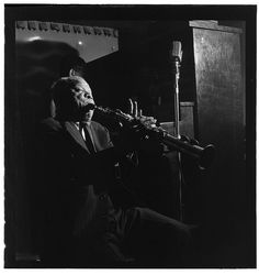 Gottlieb, William P., 1917-, photographer.    [Portrait of Sidney Bechet, Jimmy Ryan's (Club), New York, N.Y., ca. June 1947]