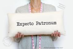 Expecto Patronum - Personalized print - Custom print pillow - Ivory burlap pillow - personalized burlap pillows - INSERT INCLUDED by LoveYouMoreBoutique on Etsy