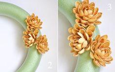 faux succulent pistachio nut wreath, crafts, wreaths