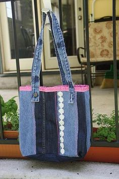 Recycle Jeans to Make a Denim Tote Bag