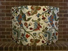 Fireplace draft stopper made from cotton fabric and insul bright we were in need of more storage space and living in texas could sacrifice our fireplace i looked around everywhere for a pretty fireplace solutioingenieria Image collections