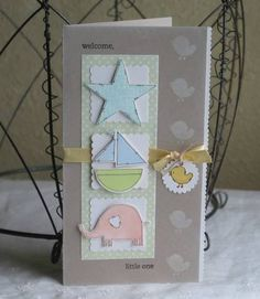 *welcome, little one* using Stampin Up Nursery Necessities