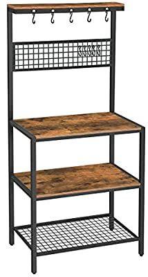 Amazon Com Vasagle Alinru Kitchen Bakers Rack Cupboard With 10