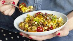 Charred Corn Salad with Basil Vinaigrette   The Splendid Table