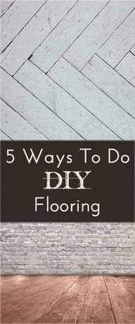 5 Easy DIY Flooring Ideas for if we were to finally take up my nasty carpet