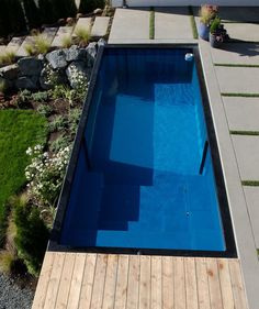 Shipping Container Swimming Pool: An Innovative Pool Design for Your Home Swimming Pool Steps, Swimming Pool House, Best Swimming, Swimming Pool Designs, Home Design, Design Ideas, Shipping Container Swimming Pool, Hidden Pool, Beach Entry Pool