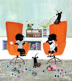 Jip and Janneke in big chairs Dachshund, When Is My Birthday, Children's Book Illustration, Book Illustrations, Schmidt, Big Chair, Bedtime Stories, Held, Cat Art