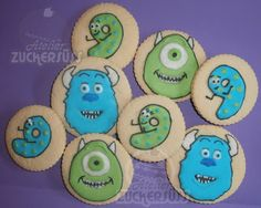 Atelier Zuckersüss: Monsters Inc cookies.