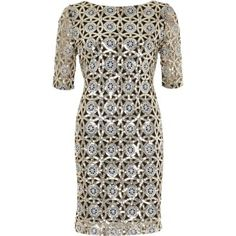 I'm shopping Silver sequin bodycon dress in the River Island iPhone app.