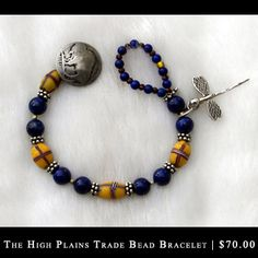 Black Fox Jewelry  trade bead bracelet
