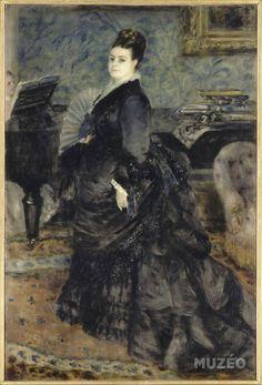 Portrait de femme, dit portrait de madame Hartmann de Renoir Auguste -
