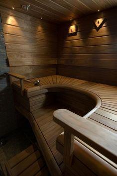 SWM-Wood sauna- ja sisustustuotteet Thermo-D Sauna Design, Küchen Design, House Design, Sauna Steam Room, Sauna Room, Diy Sauna, Sauna Lights, Modern Saunas, Sauna Hammam