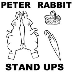 peter cottontail standups step Easter Bunny   Peter Cottontail Rabbit Paper Stand Up Dolls Craft for Kids