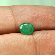 1.33 Cts. Natural Zambian Green Emerald Beautiful by AceGemstones