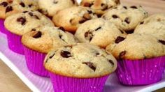 Chocolate Chip Muffins Recipe - Laura in the Kitchen - Internet Cooking Show Starring Laura Vitale