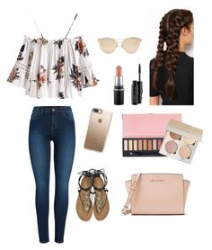 """A casual going out outfit"" by lila-montalvo on Polyvore featuring Pieces, Roberto Cavalli, MICHAEL Michael Kors, LullaBellz, Christian Dior, Casetify and MAC Cosmetics"
