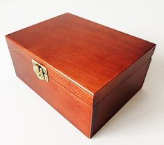Brand new small handmade brown wooden #storage box for #chess pieces #16x12x7cm,  View more on the LINK: http://www.zeppy.io/product/gb/2/141336121836/