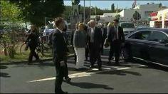 Besuch in Heidenau: Hier wird Merkel mit Buhrufen empfangen