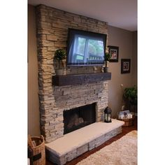 Small Living Room Ideas With Fireplace And Tv Sloped Ceiling Hall... ❤ liked on Polyvore featuring home, home decor and industrial home decor